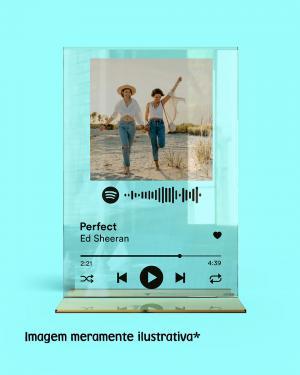Placa Spotify Acrílico Transparente Personalizado Acrílico Adesivado    Refile Reto