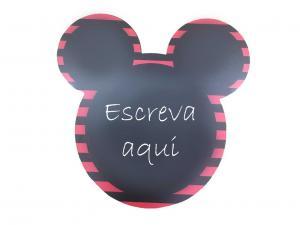 Quadro Negro Mickey Mouse MDF Adesivado    Refile Especial